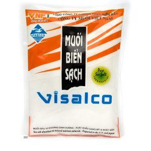 Muối biển sạch VISALCO 450g dạng tinhĐược sản xuất bằng công nghệ sạch, cô đặc lọc nước biển bằng cát và năng lượng mặt trời. Là công nghệ độc đáo duy nhất chỉ có ở miền Bắc Việt Nam có vị mặn dịu, ngon thuần khiết đặc trưng không mặn gắt, rất rễ hòa tan khi chế biến.